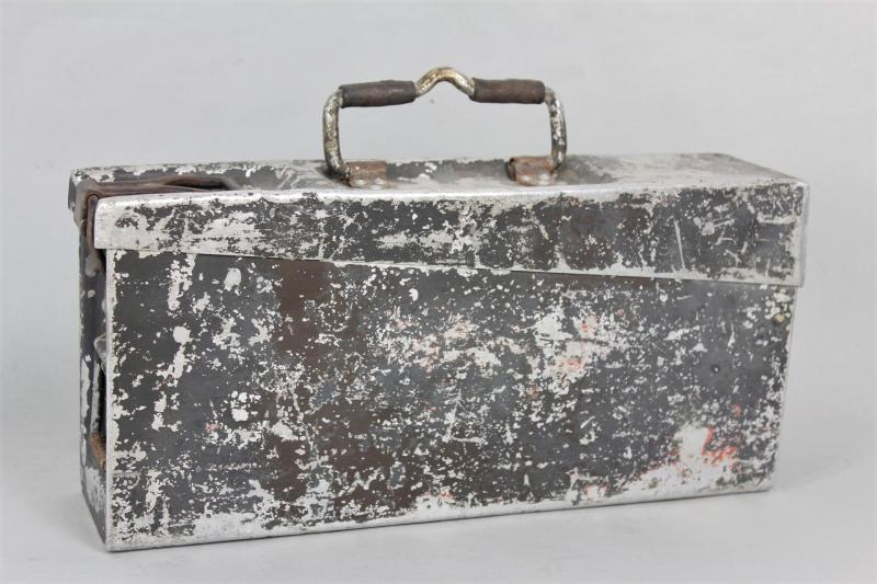 WW2 German Ammunition Tin In Aluminium 1939