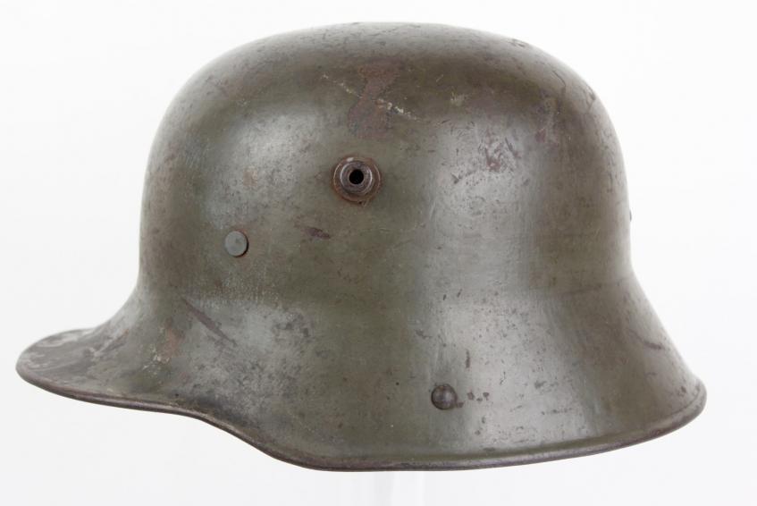 30382840244ad WW1 German  GBN  Maker Long Visored M16 Trench Helmet
