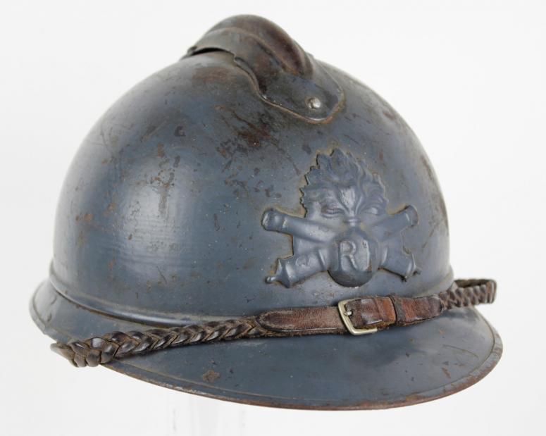 85d117431777a WW1 French Artillery Officer Adrian Helmet
